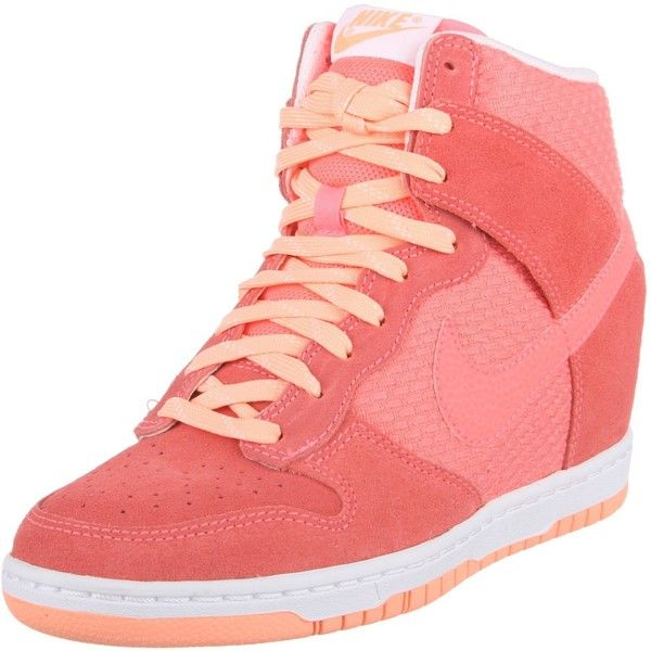 Nike Women's Dunk Sky Hi Essential Casual Shoe ($3,199) ❤ liked on Polyvore featuring shoes, nike, wide width shoes, nike footwear, nike shoes and wide shoes