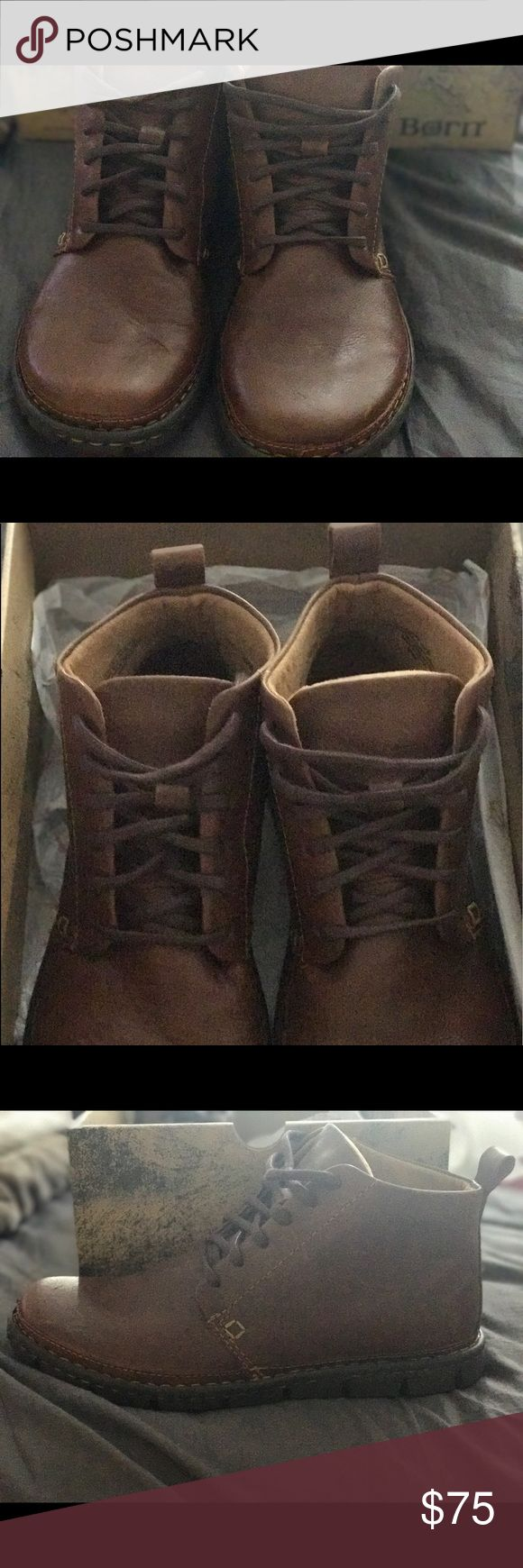 BRAND NEW Leather Born Boots Dark Brown Harrison M9431 Chestnut Size Men 8 Woman 9.5 BRAND NEW in box Harrison original price $110 Born Shoes Ankle Boots & Booties