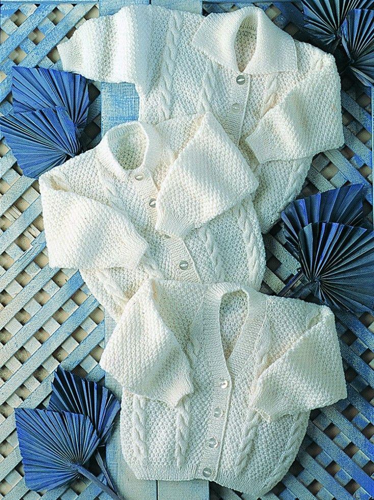 Stylecraft Baby Cardigans Wondersoft 4 Ply Knitting Pattern 4420