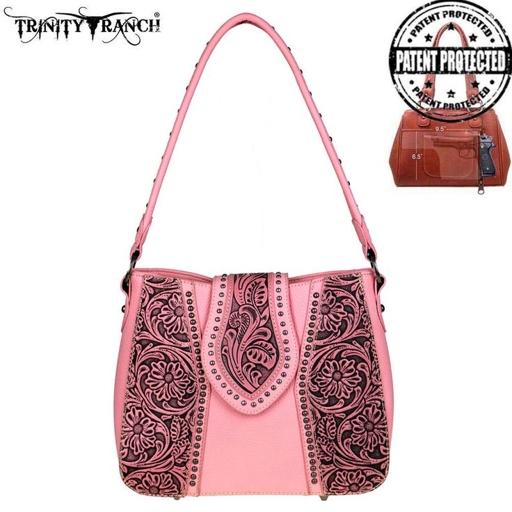 TR39G-121 Trinity Ranch Tooled Leather Collection Concealed Handgun Hobo - What's New