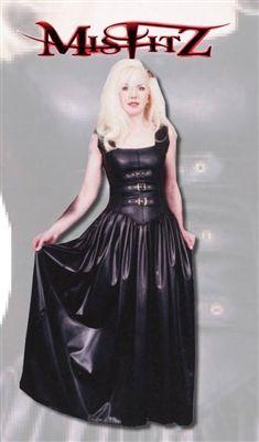 f309d3675d Leather look buckle front corset ballgown en 2019