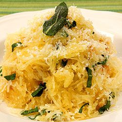 Spaghetti Squash with Herb Butter  My side dish for Easter dinner