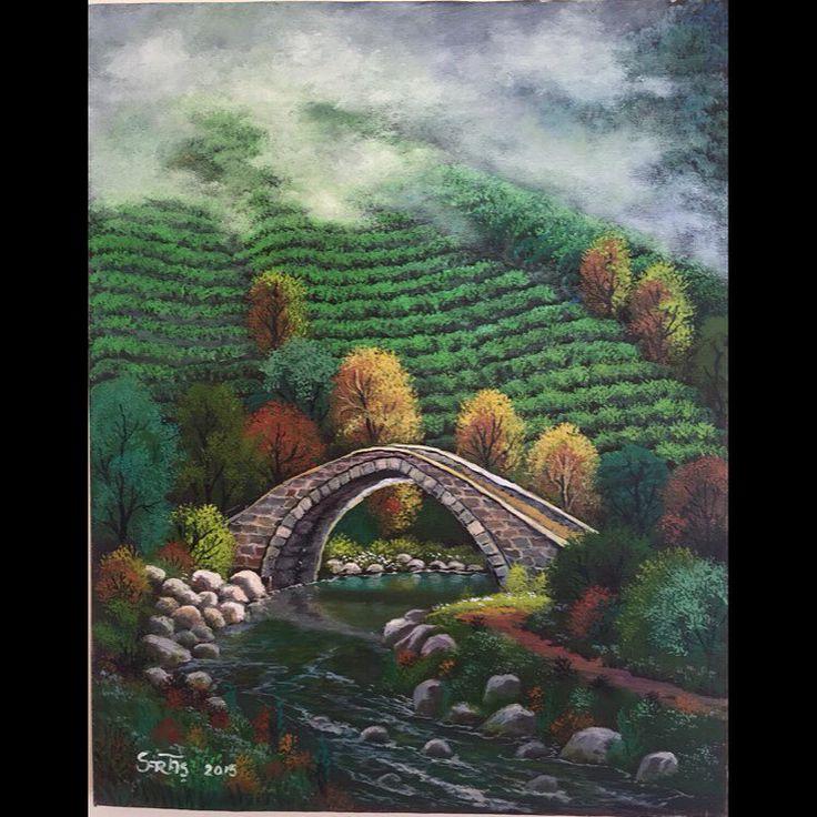 ✨YENİ ESER✨Taş Köprü 50x40  2015 Tuval Üzeri Yağlı Boya.  #resim #tablo #sergi #resimsergisi #ressam #yağlıboya #oilpainting #sanat #ankara #izmir #istanbul #art #artwork #fineart #vscocam ✨Bu Esere Sahip Olmak İçin; Okan Sartaş 05074409494✨
