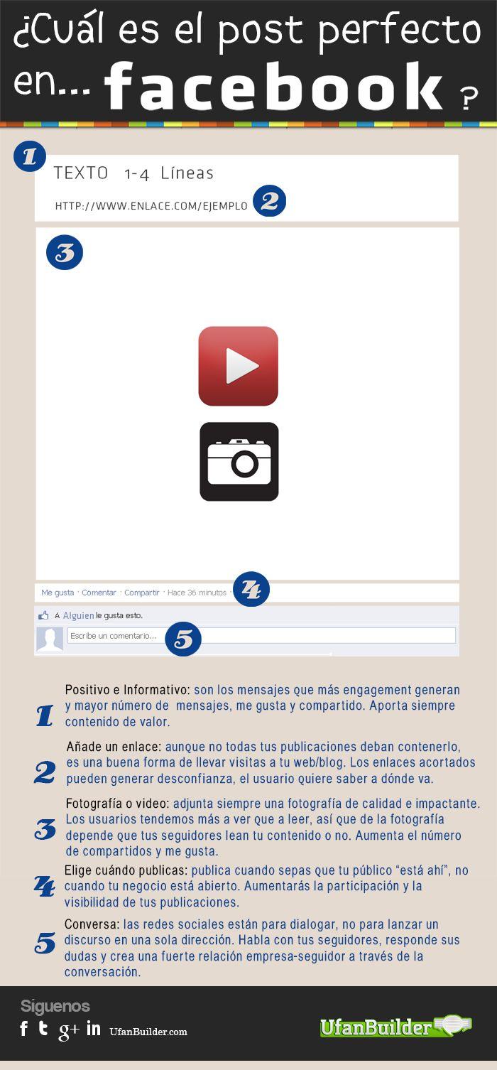 Infografía: ¿Cuál es el post perfecto en Facebook?