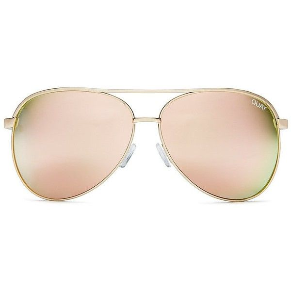 Quay Australia Vivienne Oversized Aviator Sunglasses ($60) ❤ liked on Polyvore featuring accessories, eyewear, sunglasses, oversized glasses, over sized sunglasses, quay sunnies, quay sunglasses and quay glasses