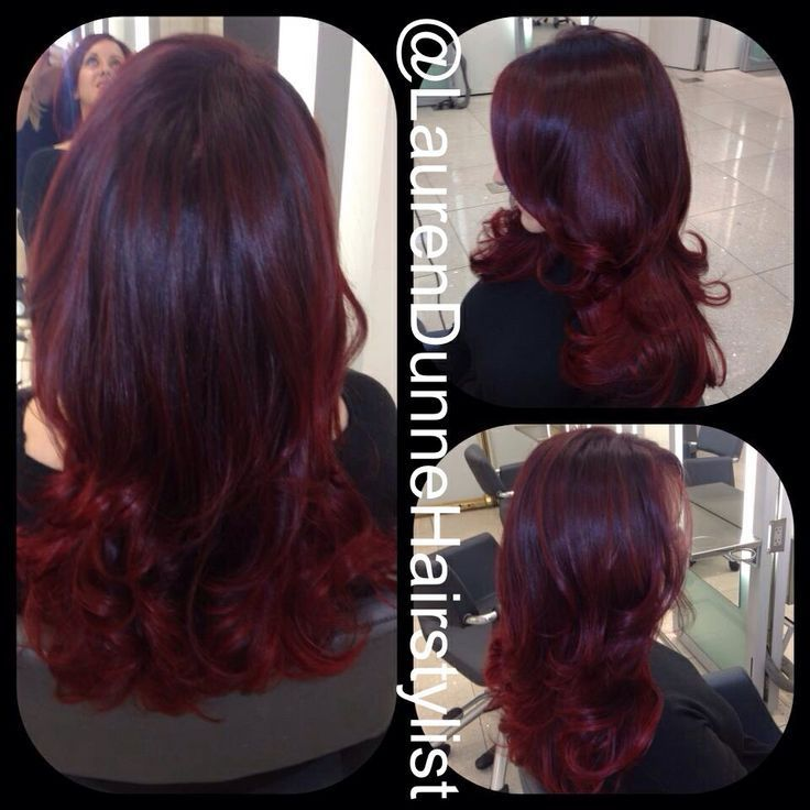 Red Hair Red Violet Mahogany Burgundy Red Hair Color By