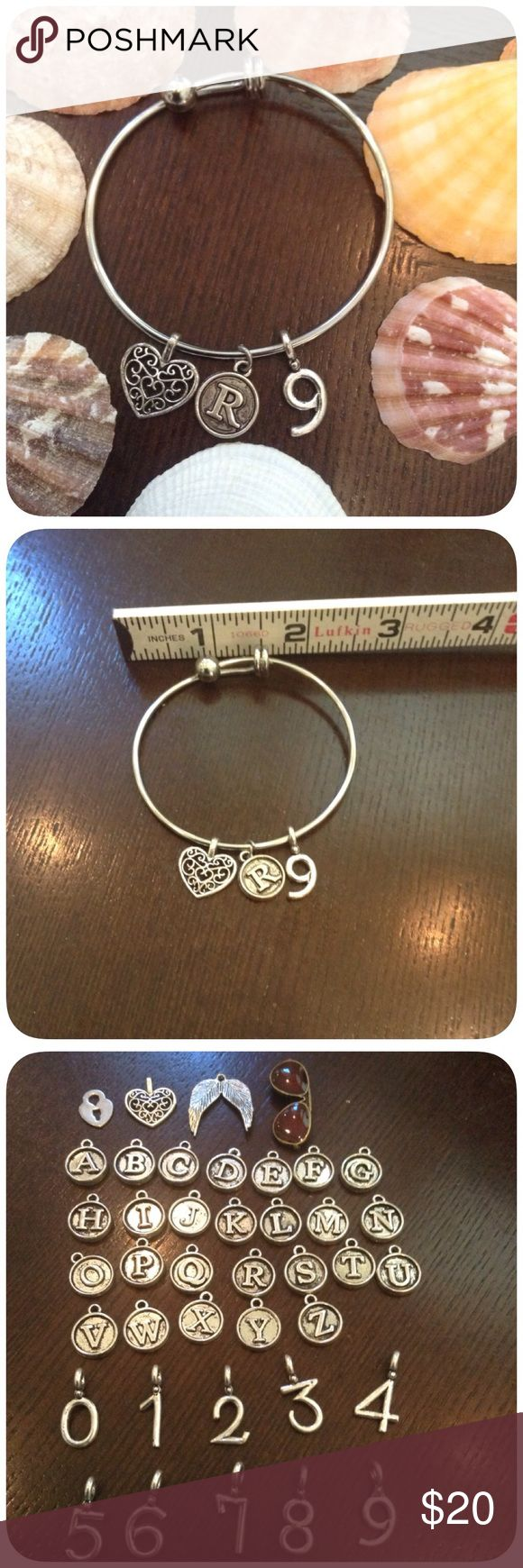 🆕 Build a Bracelet Perfectly cute and will pair with any outfit. This is the small size which will fit wrist up to 6.5 inches ( small child teenager) with some wiggle room. Charms are not heavy and will sit comfortably on the wrist. Bracelet is stainless steel, lock and heart charms (top left pick 3) are also stainless steel. Other charms are alloy but have been treated with a acrylic spray which makes them water resistant 💙. I'm sorry but I don't trade. Bin150 Jewelry Bracelets