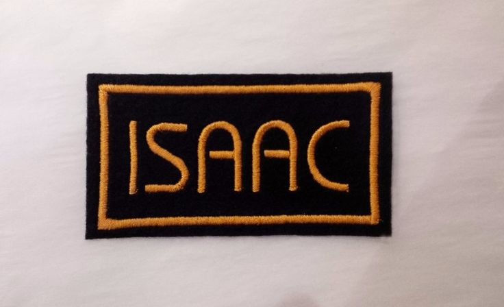 Gold on Black Embroidered Name patch from fabgraffix by DaWanda.com