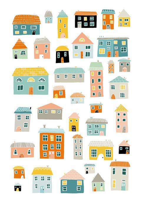 Amy Blackwell #illustration #houses