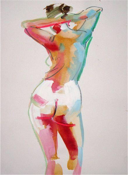 """Nude #1086 - 11""""x14"""" watercolor, gouache, graphite       Nude #1087 - 11""""x14"""" watercolor, gouache, pastel + graphite       Nude #1088 - ..."""
