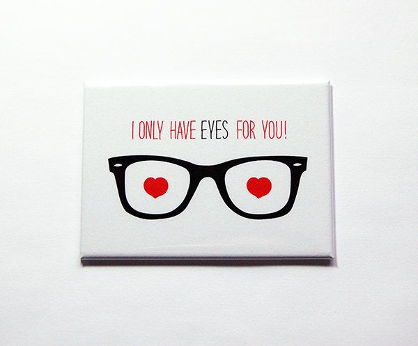 Valentines Day magnet, Valentines Day gift, Kitchen magnet, Fridge magnet, Large Magnet, ACEO, Only have eyes for you, Love (7101) by KellysMagnets on Etsy