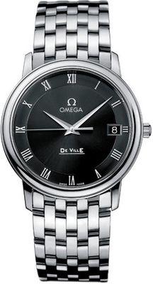 Omega オメガ De Ville Quartz クォーツ 34mm Men's Watch 男性用 メンズ 腕時計 4510.52.00