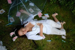 White Rabbit In The Rain-Photography-Fun Month