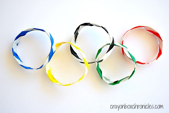DIY Olympic Origami Bracelets from Crayon Box Chronicles on All for the Boys blog