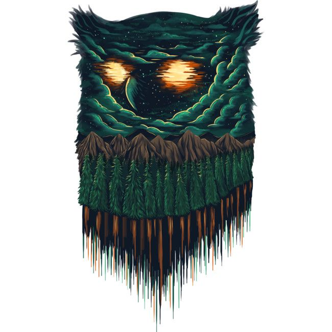 owl forest is a T Shirt designed by rurara to illustrate your life and is available at Design By Humans