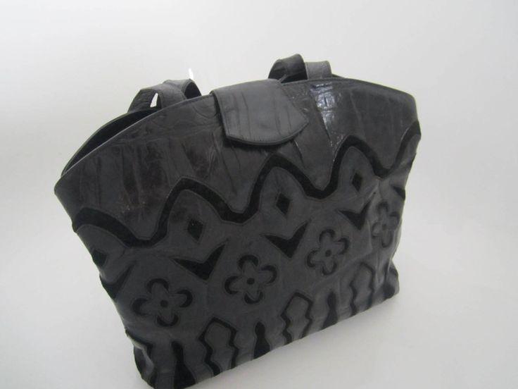Vintage Schultertaschen - Vintage Braccialini Saffiano Leder Tasche  - ein Designerstück von Kleiderzeitreise bei DaWanda