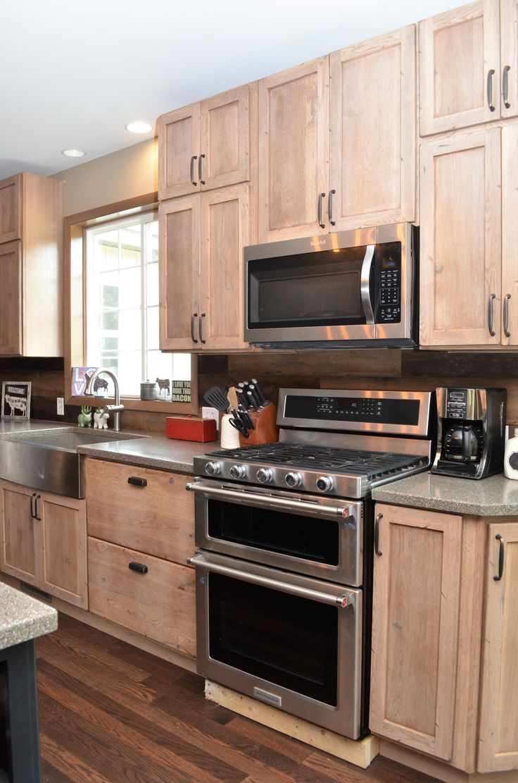 Haas Cabinetry Wood Species: Rustic Hickory Cabinet Finish ...