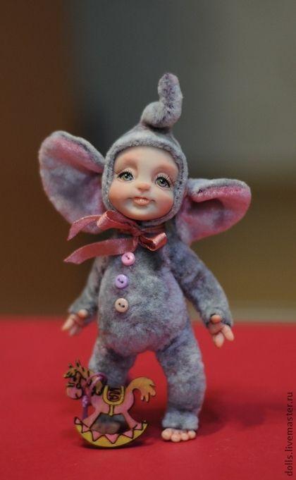 Коллекционные куклы ручной работы: Слоняша Тёма. Handmade.