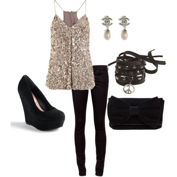 Great New Years Eve outfit. Sparkle and shine)