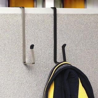 Spectrum Designs 16710 Over-The-Cubicle/Door Metal Hook, Black