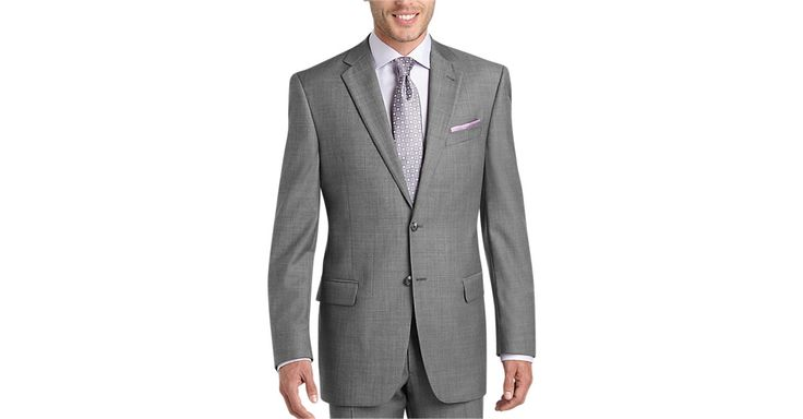 Check this out! Joseph Abboud Gray Sharkskin Modern Fit Suit Separate - Joseph Abboud Collection from MensWearhouse. #MensWearhouse