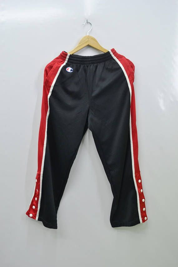 b83ac7fc CHAMPION Tracksuit Vintage 90's Champion Logos Red Stripe Made In Japan  Half Popper Buttons Track Pants Tracksuit Size Jaspo S | VINTAGE SHORTS/ TRACKSUIT ...