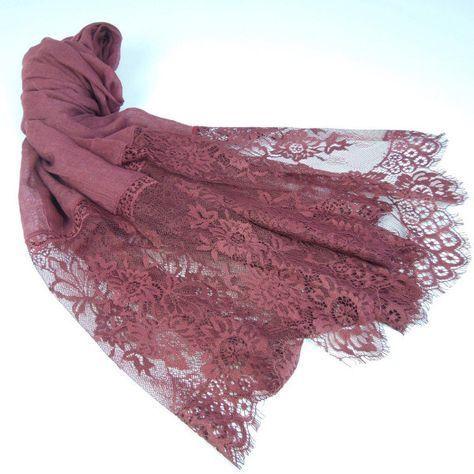 Delicate Lace Hijab #hijabfashion,