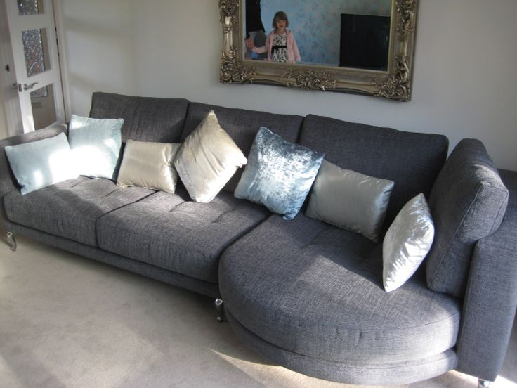 Rounded Chaise With Sofa Right Hand Facing The Section That Brackets To Is Available In Standard Or Bespoke Widths