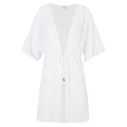 SALSA - Kimono Polinésia Salsa - branco - OQVestir