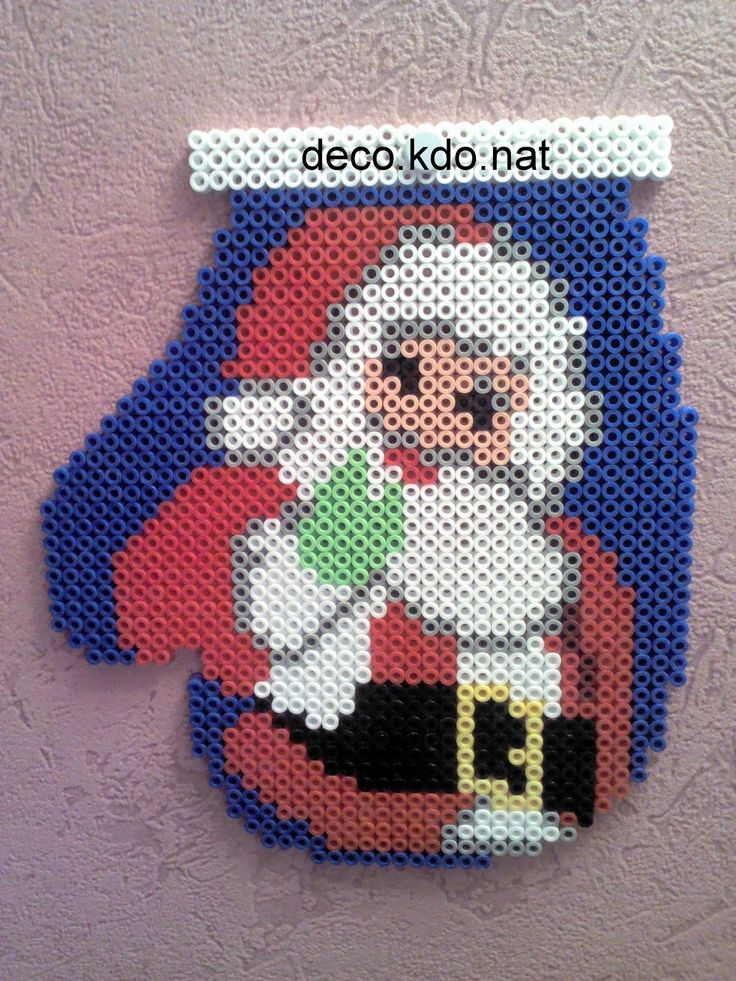 Christmas Santa ornament hama perler beads by Deco.Kdo.Nat