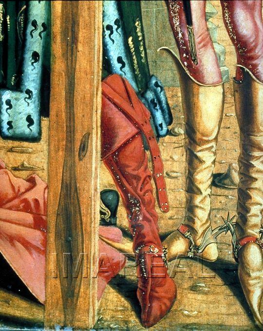Anbetung der Könige Kunstwerk: Temperamalerei-Holz ; Tafelbild ; Reichlich Marx (1494-1509 nachweisbar)(?) ; Südtirol ; Dokumentation: 1490 ; 1510 ; Niederolang ; Italien ; Südtirol ; St. Ägydius in Mitterolang