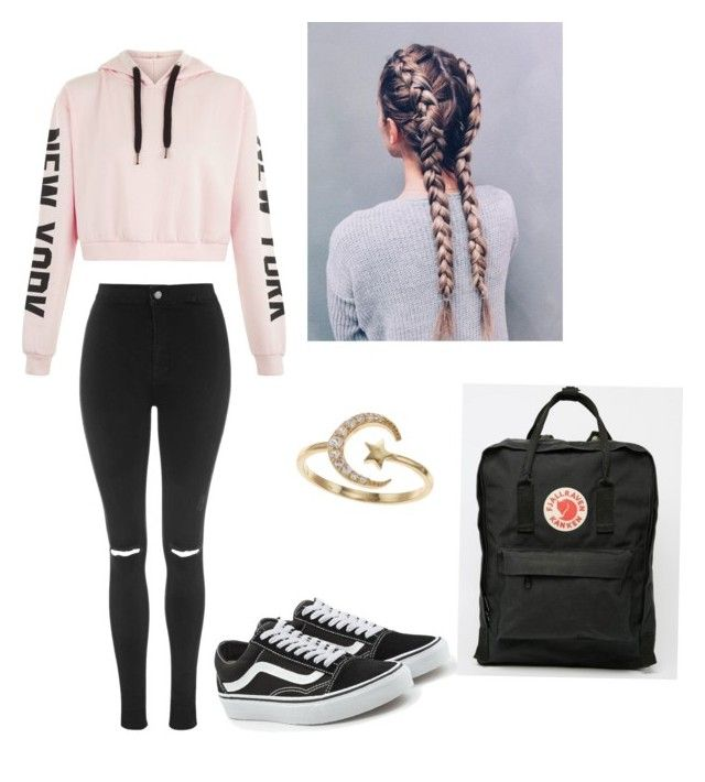 """""""Untitled #81"""" by haileymagana on Polyvore featuring Topshop, Vans and LC Lauren Conrad"""