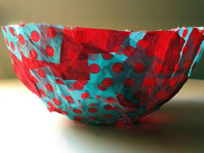 How to Make Decorative Paper Bowls with Purex Sta-Flo
