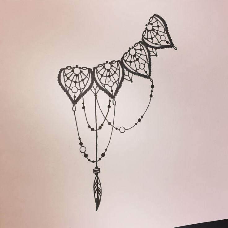 Side ribs side boobs dream catcher plume black and grey tattoo bijoux collier perle fashion sexy women tattoo