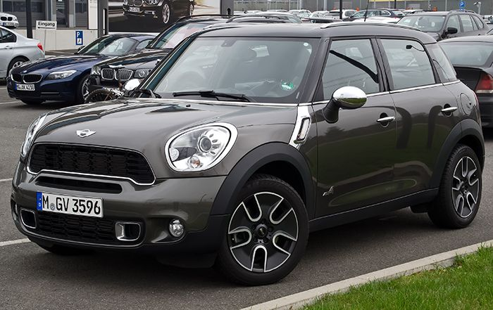 Mini cooper - For HIM The Country Man, Charcoal with black top starting at ($22,100) For HER The Roadster Violet starting ($25,500) - I love a couple that has understated and common style