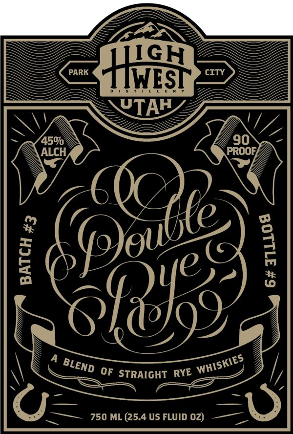 Double Rye #typography #label
