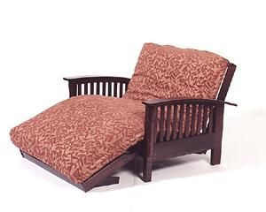 love chair | twin loveseat futon frame makes an oversize chair chair and a half in ...