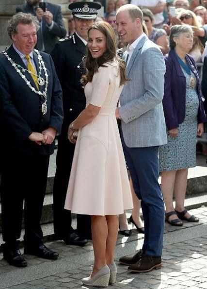Prince William and Duchess of Cambridge visited Truro City