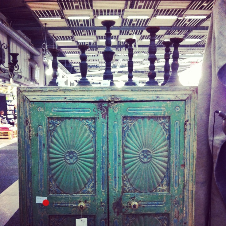 Beautiful old furniture from India at Formex