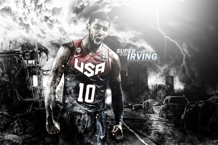 Custom Canvas Kyrie Irving Poster NBA Star Wall Stickers Cavaliers Wallpaper USA Basketball Sticker Christmas Decoration #2538#