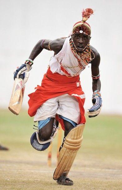 Maasai cricket player