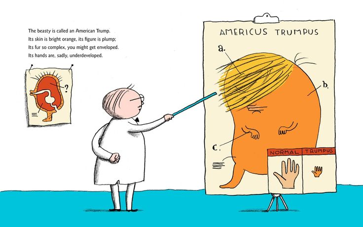 """The beasty is called an American Trump. Its skin is bright orange, its figure is plump. Its fur so complex you might get enveloped. Its hands though are, sadly, underdeveloped. (Simon & Schuster) """"This will be the day that the United States resigned as the leader of the free world,"""" CNN journalist Mr Zakaria said. On June 1. Donald Trump's decision to withdraw the US from the Paris Agreement on climate change means the US is """"no longer the leader of the free world"""",CNN's Fareed Zakaria s..."""