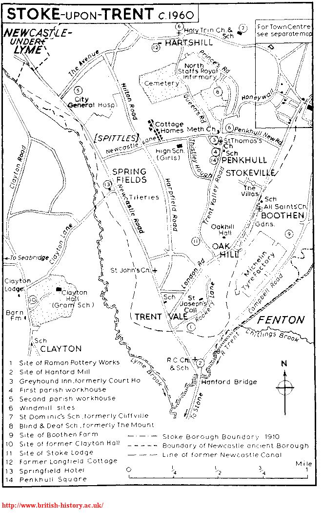 Ordnance Survey First Series map click to enlarge Old Stoke on