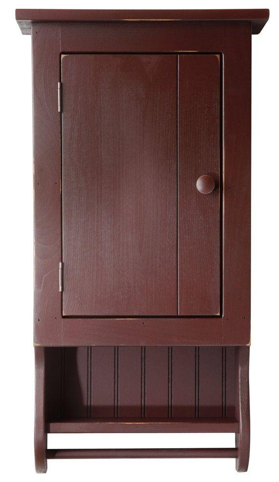 Bathroom Wall Cabinets Bed Bath And Beyond: BATHROOM CABINET Bath Linen Storage Towel Bar Amish