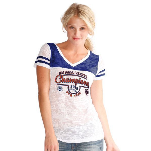 New York Mets Touch by Alyssa Milano Women's 2015 National League Champions T-Shirt - White - $26.99