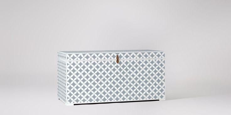 Swoon Editions Decorative storage box in grey diamond - £229