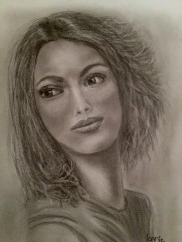 Drawing the face, Joan, Graphite