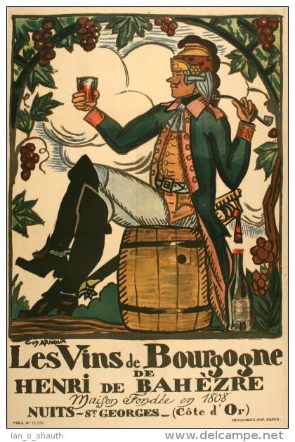 vin - Les Vins de Bourgogne de Henri de Bahèzre  - Nuits-St.Georges (Cote d´Or) - 1920 - France -