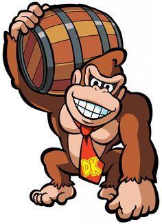 Bourbon Decor, Donkey Kong Birthday, Donky Kong, Donki Kong, Drinks Galore, Mario Bros, Dk Barrel, Cumple Donkey