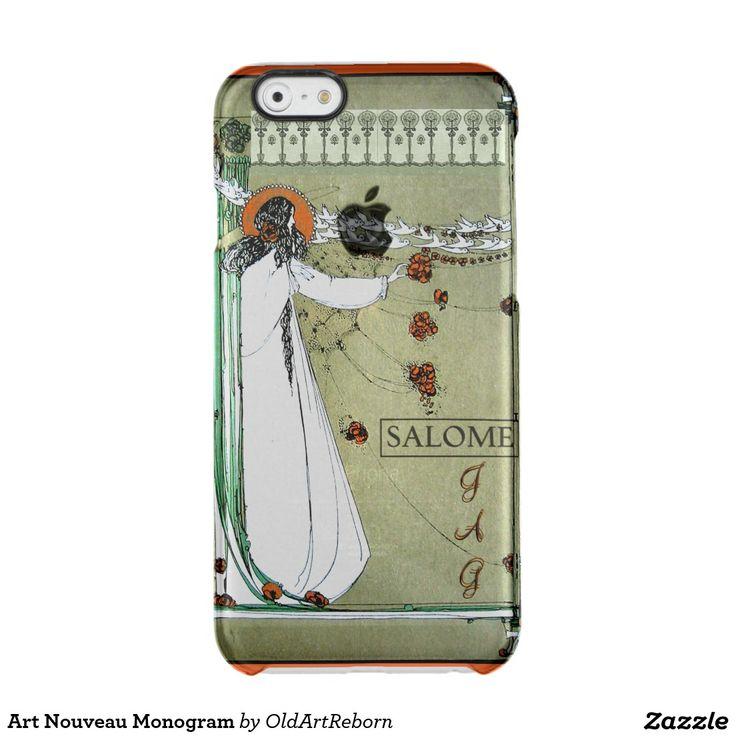 Art Nouveau Monogram Clear iPhone 6/6S Case